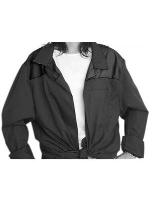 Blusones peñas cuello camisa 1 color de algodon vista 1