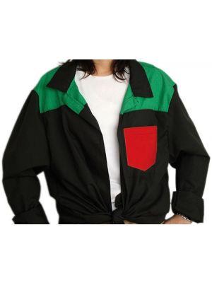 Blusones peñas cuello camisa 3 colores niño de algodon con impresión vista 1
