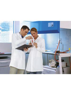 Batas médicas valento farmacéuticas blancas vista 1