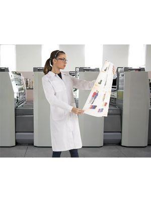 Batas sanitarias valento blanca laboratorio mujer de poliéster imagen 1