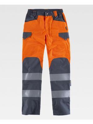 Pantalones reflectantes workteam combinado alta visibilidad de poliéster imagen 1