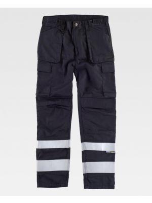 Pantalones reflectantes workteam triple costura de poliéster imagen 1