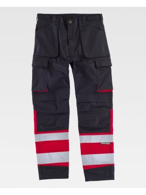Pantalones reflectantes workteam c2919 de poliéster para personalizar vista 1