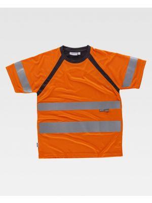 Camisetas reflectantes workteam combinada mc en de poliéster para personalizar vista 1