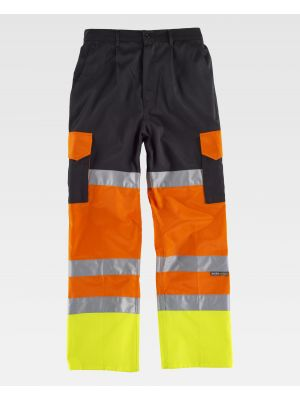Pantalones reflectantes workteam c3216 de poliéster para personalizar vista 2