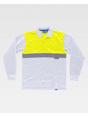Polos reflectantes workteam ml combinado reflectante de 100% algodón para personalizar vista 1
