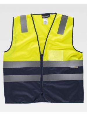 Chalecos reflectantes workteam combinado y parte superior alta visibilidad de poliéster para personalizar vista 1