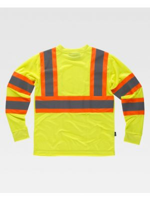 Camisetas reflectantes workteam reflectante fluorescente ml de poliéster vista 1