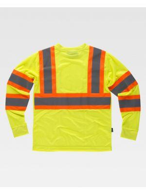 Camisetas reflectantes workteam reflectante fluorescente ml de poliéster imagen 1