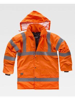 Chaquetas y parkas reflectantes workteam acolchada tejido oxford alta visibilidad de poliéster vista 1