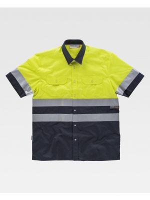 Camisas reflectantes workteam combinada mc y 2 bolsillos de poliéster vista 1