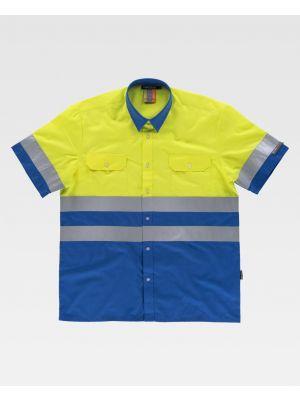 Camisas reflectantes workteam combinada mc cintas reflectantes de poliéster imagen 1