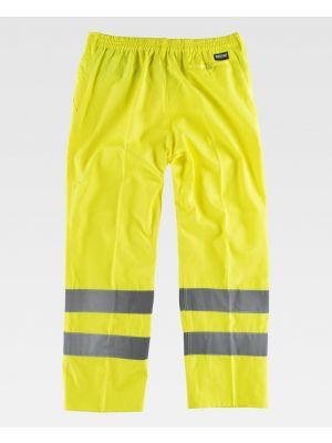 Pantalones reflectantes workteam alta visibilidad c3915 de algodon vista 1