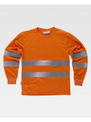 Camisetas reflectantes workteam alta visibilidad ml c3933 de poliéster imagen 1