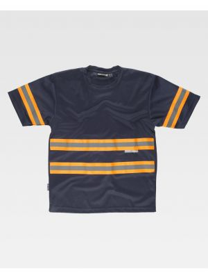 Camisetas reflectantes workteam mc tejido pique de poliéster para personalizar vista 1