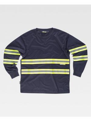 Camisetas reflectantes workteam ml tejido pique de poliéster imagen 1
