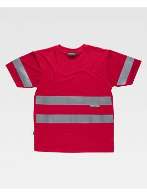 Camisetas reflectantes workteam mc ojo de perdiz cintas reflectantes de poliéster imagen 1
