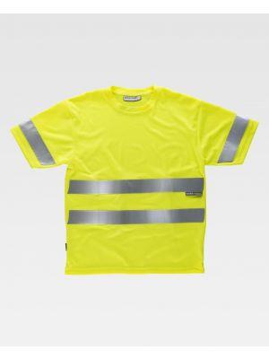 Camisetas reflectantes workteam alta visbilidad mc con cintas reflectantes imagen 1