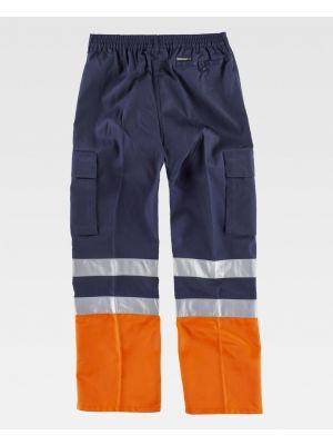 Pantalones reflectantes workteam con refuerzos combinado con alta visibilidad de poliéster imagen 2
