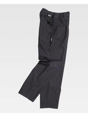 Pantalones de trabajo workteam deportivo c4015 de poliéster para personalizar vista 2