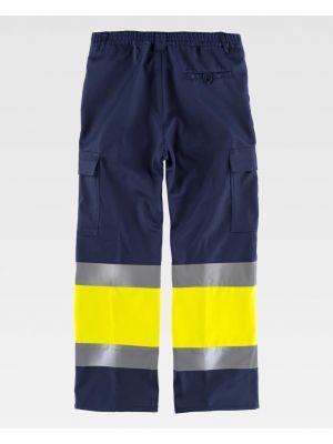 Pantalones reflectantes workteam para el frio combinada con alta visibilidad de poliéster imagen 2