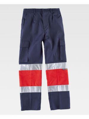 Pantalones reflectantes workteam c4057 de poliéster imagen 2