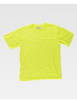 Camisetas reflectantes workteam alta visbilidad mc de poliéster imagen 1