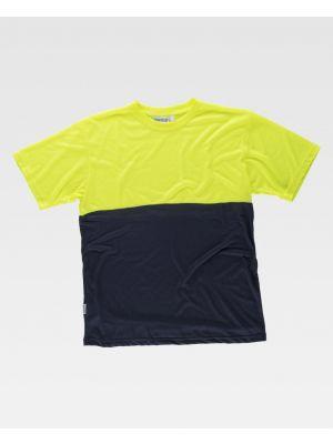 Camisetas reflectantes workteam mc combinada alta visibilidad de poliéster imagen 1