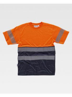 Camisetas reflectantes workteam mc combinada reflectante de poliéster imagen 1
