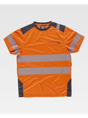 Camisetas reflectantes workteam mc alta visibilidad combinada de poliéster imagen 1