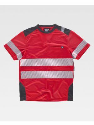 Camisetas reflectantes workteam mc segmentadas de poliéster para personalizar vista 1