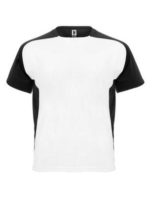Camisetas técnicas roly bugatti niño de poliéster con publicidad vista 1
