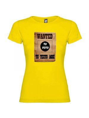 Camisetas despedida mujer para despedida de soltera cartel de se busca 100% algodón vista 1