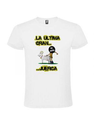 Camisetas despedida hombre blanca unisex para fiestas de soltero con lema la última gran juerga 100% algodón vista 2