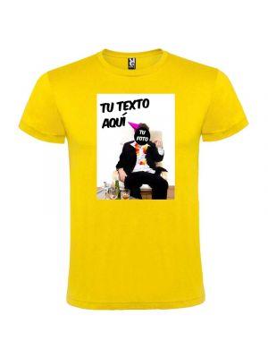 Camisetas despedida hombre de fiesta con foto de borracho 100% algodón con logo vista 1