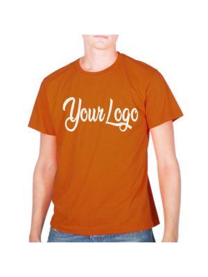 Camisetas manga corta keya mc150 de 100% algodón con publicidad vista 1