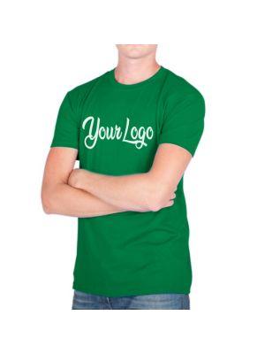 Camisetas manga corta keya mc180 de 100% algodón imagen 1