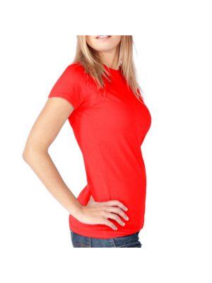 Camisetas manga corta keya wcs180 de 100% algodón con logo vista 1