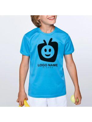 Camisetas técnicas roly camimera niño de poliéster con publicidad vista 1