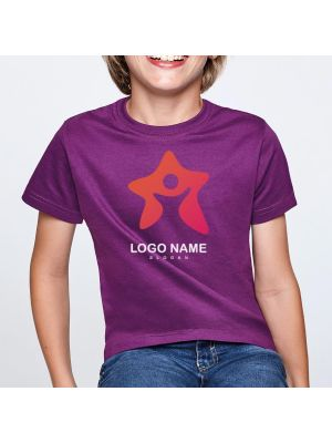 Camisetas manga corta roly beagle niño de 100% algodón para personalizar vista 1