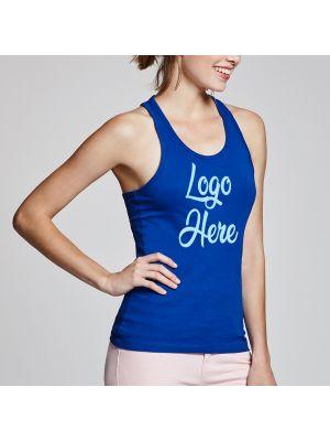 Camisetas tirantes roly brenda mujer de 100% algodón para personalizar vista 1