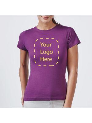 Camisetas manga corta roly jamaica mujer de 100% algodón con logo vista 2