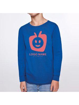 Camisetas manga larga roly ponter niño de 100% algodón con publicidad vista 2