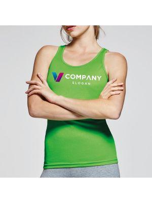 Camisetas técnicas roly shura mujer de poliéster con publicidad imagen 2