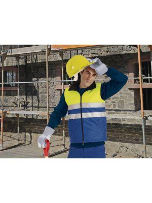 Chalecos reflectantes valento alta visibilidad con bolsillos de poliéster con logo vista 1