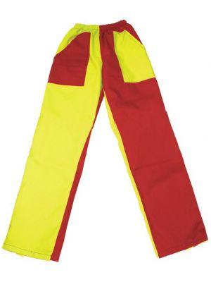Pantalones peñas peñas bicolor mod 03 niño de algodon con impresión vista 1