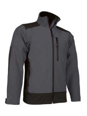 Ropa térmica para trabajar valento chaqueta valento softshell saponi de lycra con publicidad vista 1