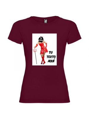 Camisetas despedida mujer de despedida para mujer estampación de diablesa 100% algodón imagen 1