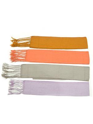 Fajines peñas regional algodón con flecos 24x300 cm de 100% algodón con logo vista 1