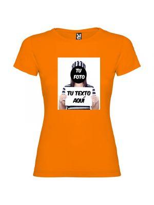 Camisetas despedida mujer para fiestas de despedida con diseño de fugitiva 100% algodón con logo vista 1